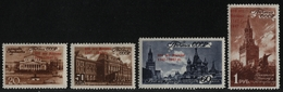 Russia / Sowjetunion 1947 - Mi-Nr. 1121-1124 ** - MNH - 800 Jahre Moskau (IV) - 1923-1991 UdSSR