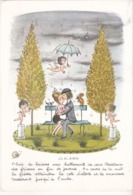 "Peynet - "" O.N. AIME "" -  Planche Calendrier Publicitaire - ( Octobre 1967) - Reclame"