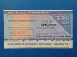 500 DM TRAVELLERS CHEQUE SPECIMEN DEUTSCHER REISESCHECK FUNFZIG DEUTSCHE MARK - Germania