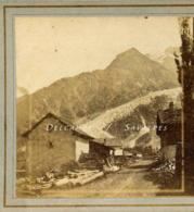 Rare Chamonix 1856 * Les Praz, Cascade Rochers Des Mottets * Photo Stéréoscopique - Voir Descriptif - Stereoscopic