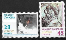 Andorre Espagnol 1993 N°222/223 Neufs Europa Art Contemporain - Spanisch Andorra