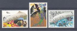 Mge0070 FAUNA NATUUR EN MILIEU VOGELS ZEELEVEN REPTIEL LEGUAAN VISSEN FISH REPTILE IGUANA BIRDS ARUBA 1990 PF/MNH - Milieubescherming & Klimaat
