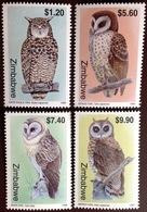Zimbabwe 1999 Owls Birds MNH - Vogels