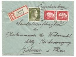 SK340 - LINTHAL - 1941 - Recommandé Double Port Tarif 54 Pfg - - Marcophilie (Lettres)