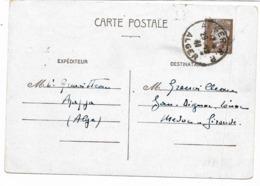 ALGERIE -1941-  Entier Postal PETAIN 80c-  Cachet ALGER R.P. 29-12-41 ALGER Pour La GIRONDE  -pli Coté Droit Voir Scan - Entiers Postaux