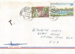 Gabon 1976 Libreville Lalala Bridge Mouila Scouting Scoutisme Taxed Cover - Bruggen