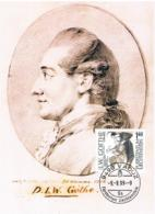 Liechtenstein 1999 Goethe Mi.Nr. 1215/16 Gestempelt Auf Maximumkarten - Maximumkarten (MC)