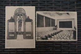 2 AK Eupen, Kotholisches Gesellenhaus Bergstrasse. Grosser Festsaal Und Gedenktafel Der Gefallenen (351) - Eupen