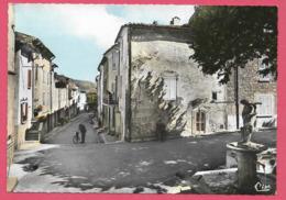 04 QUINSON Grand Rue - Fontaine Et Cours Env De Valensole Forcalquier Gréoux Manosque - France