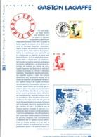 DOCUMENT FDC 2001 FETE DU TIMBRE BD GASTON LAGAFFE - Documents De La Poste