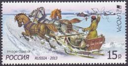 CEPT / Europa 2013 Russie N° 7389 ** Véhicules Postaux. Chevaux, Traîneau, Neige - 2013