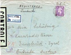 Österreich 1946, IKA-I Zensur Auf GB Reko Feldpost Brief M. 3d N. Innsbruck - Austria