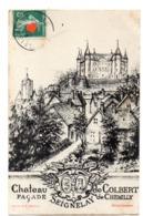 33416-ZE-89-Chateau De COLBERT-FACADE De CHEMILLY--SEIGNELAY---------dessin De H. Mathieu - Seignelay