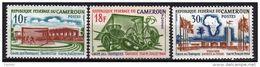 Cameroun  N° 381 / 83  X  Coupe De Football Des Tropiques Les 3 Valeurs Trace De Charnière Sinon TB - Cameroon (1960-...)