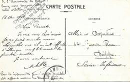 32-cachet Hôpital Temp. N°13 De Auch Sur CP De 1914 - Marcophilie (Lettres)