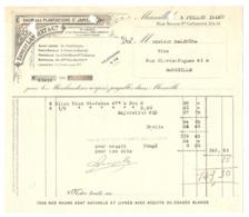 FACTURE MARSEILLE RUE NEUVE 5 JUILLET 1919 - ERNEST LAMBERT RHUM Des PLANTATIONS St JAMES à La MARTINIQUE ANTILLES - Alimentos