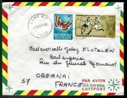 LETTRE DU TOGO - THÈME FOOTBALL - COUPE DU MONDE 1966 - - 1966 – Inghilterra