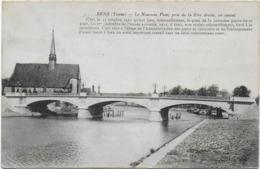 CPA - SENS - LE NOUVEAU PONT, PRIS DE LA RIVE DROITE, EN AMONT - C'EST LE 15 OCTOBRE 1911... - 1914 - Sens