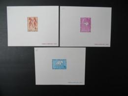 Mauritanie     épreuve De Luxe N°  333 - 334 - 335  Gravure Rupestre  Zemmour - Arts
