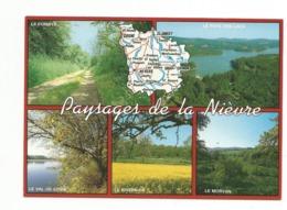 58-Carte Contour Géographique Du Département De NIEVRE - Cartes Géographiques