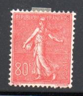 France / N 203  /   80 C   Rouge    / NEUF Avec  Charnière - Ungebraucht
