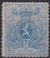 Belgie    .    OBP    .    24    ( 2 Scans )   .       (*)      .      Geen Gom     /   .    Pas De Gomme - 1866-1867 Blasón