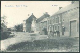CP Neuve De CUL-DES-SARTS L'entrée Du Village + Cheval - 14631 - Cul-des-Sarts