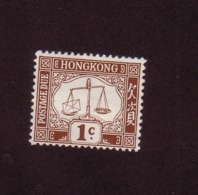 HONG KONG 1924 TAXE YVERT N°T1 NEUF MH* - Hong Kong (...-1997)