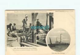 29 - PLOUGUERNEAU - Contruction Du Phare Sur L'ile Vierge - Plouguerneau