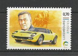 Lussemburgo, 2016, Centenario Di Ferruccio Lamborghini, Francobollo Personalizzato. - Altri