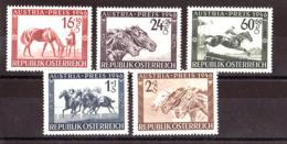 """Autriche - 1946 - N° 648 à 652 - Neufs * - Grand Prix Hippique """"Austria"""" à Vienne - 1945-.... 2nd Republic"""
