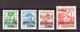 Autriche - 1935 - N° 467 à 470 - Neufs * - Secours D'hiver - TP Costumes Régionnaux Surchargés - 1918-1945 1ère République