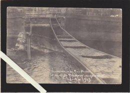 """Nantes / Photo """"the Royal Photo""""/ Ligne Tramway Suspendue, écroulement Pont Maudit 1913 - Nantes"""