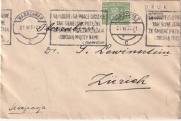 POLOGNE 1935 LETTRE DE VARSOVIE - 1919-1939 Republic