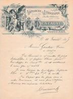 1895 ANGOULÊME - IMPRIMERIE & LITHOGRAPHIE - F.DENEAUVE Rue D'Arcole - Documents Historiques