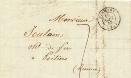 """FRANKREICH """"FIRMINY"""" Selt. Kl. K2 Und Taxe """"7"""" A. Kab.-Vorphilabrief N. POITIERS - Postmark Collection (Covers)"""