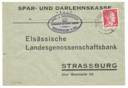 SK436 - REICHWEILER - 1943 - RICHWILLER - Entête SPAR DARLEHNSKASSE - - Marcophilie (Lettres)