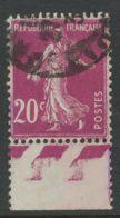FRANKREICH 1926 Säerin 20 C. Lila Gest. ABART Teilweise Ausfall Der Lila Farbe - Variedades Y Curiosidades