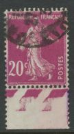 FRANKREICH 1926 Säerin 20 C. Lila Gest. ABART Teilweise Ausfall Der Lila Farbe - Abarten Und Kuriositäten