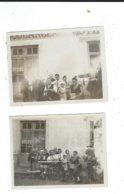 2 Photos Amateur  71 Anzy Le Duc Personnages Devant La Boulangerie Hotel Feneon 8,5/11 - Lugares
