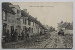 Cpa Therdonne, Oise, Rue De Beauvais, Café Roisin-Cordeau, Attelage, Publicité - Autres Communes