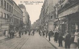 CPA 1269   --PARIS La Rue De Belleville   -  Animation- - Health, Hospitals