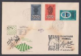 FDC OLIMPIADA MUNDIAL DE AJEDREZ 1966. EDIFIL 1383/88 - FDC