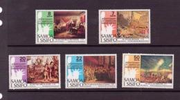 SAMOA 1976 INDEPENDANCE USA  YVERT N°367/71 NEUF MNH** - Samoa