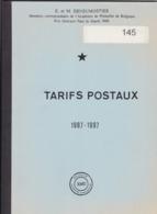 TARIFS POSTAUX 1987 - 1997  Par E Et M Deneumostier 101 Pages - Posttarieven