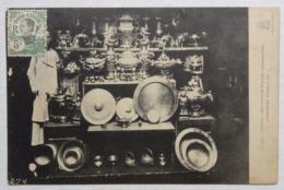 Viêt-Nam, Tonkin, Indochine, Marchand De Bronzes, Brûle-parfums, Plateaux... 1913, Timbre, Stamp, Seller - Viêt-Nam