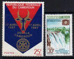 Cameroun  N° 440 + 450 X Rotary Et Année Internationale Du Tourisme.  Les 2 Valeurs  Trace De Charnière Sinon TB - Camerún (1960-...)