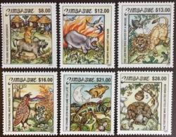 Zimbabwe 2001 Folk Tales Reptiles Animals Birds MNH - Zimbabwe (1980-...)