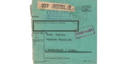 Colis Postal  -  De Saarbrücken  -  OSRAM   -   17-2-43 - Duitsland