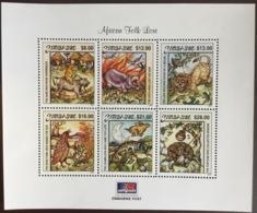 Zimbabwe 2001 Folk Tales Reptiles Animals Birds Minisheet MNH - Zimbabwe (1980-...)